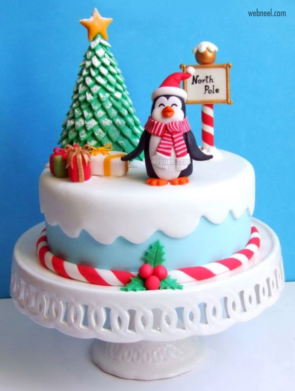 christmas cake easy decoration ideas