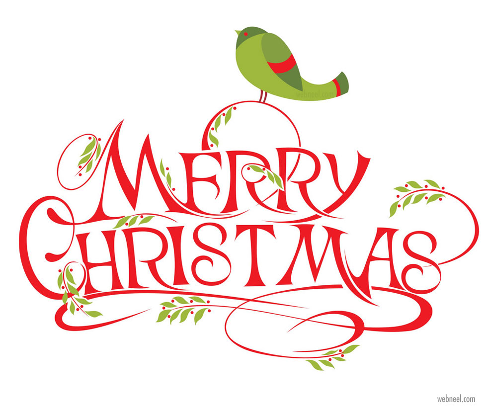 christmas typography design by galina