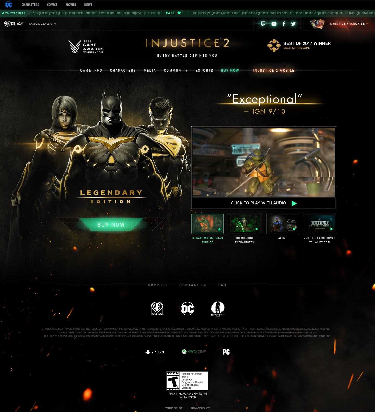 website design game injustice