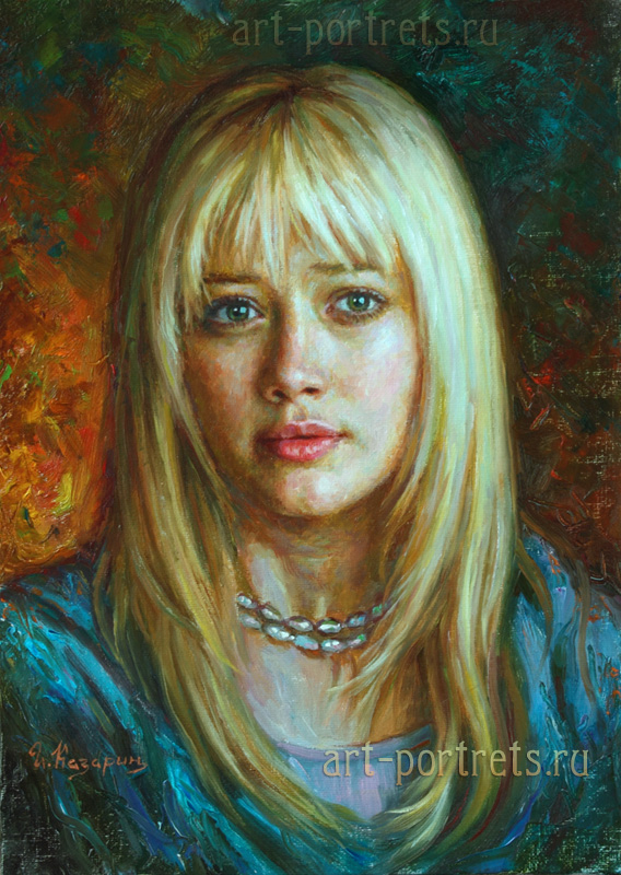 oil painting portrait hilary duff by igor kazarin