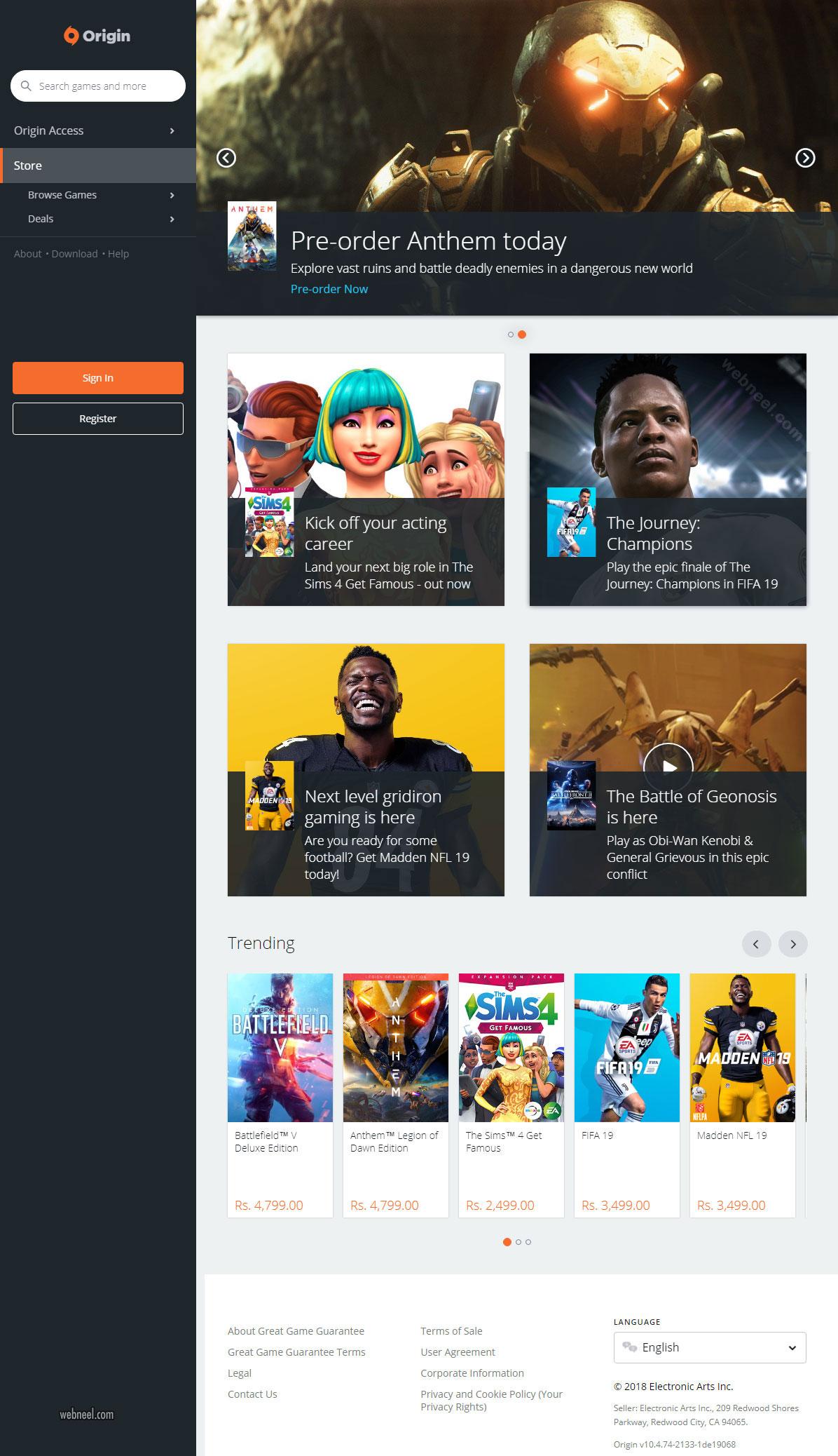 website design game assasins creed odyssey