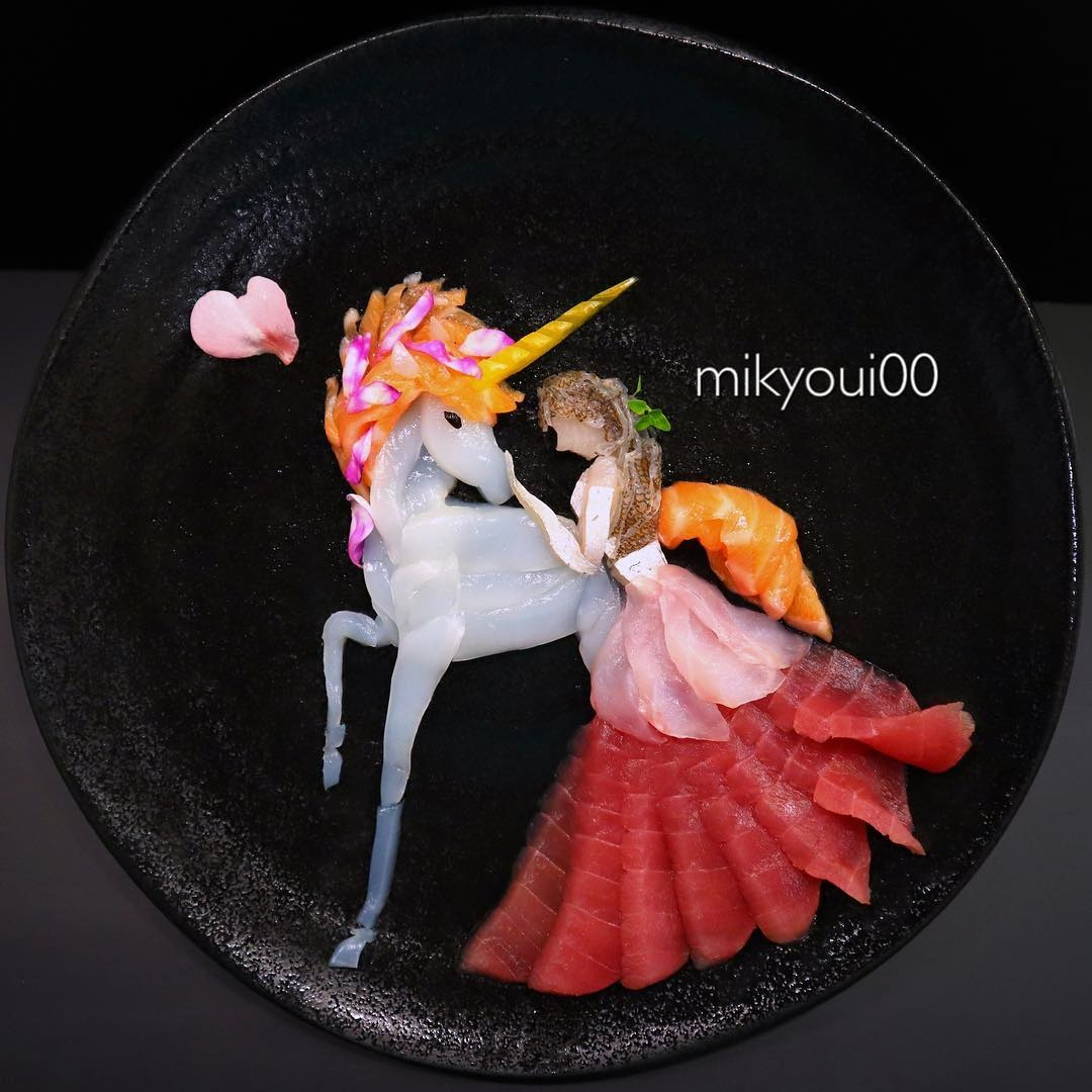 food art idea unicorn by mikyou