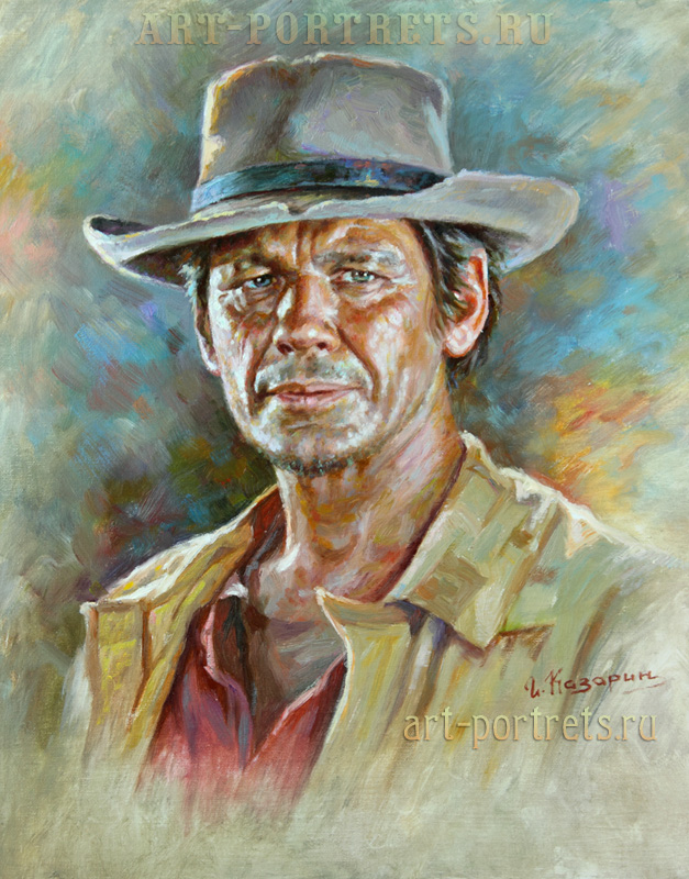 oil painting portrait charles bronson