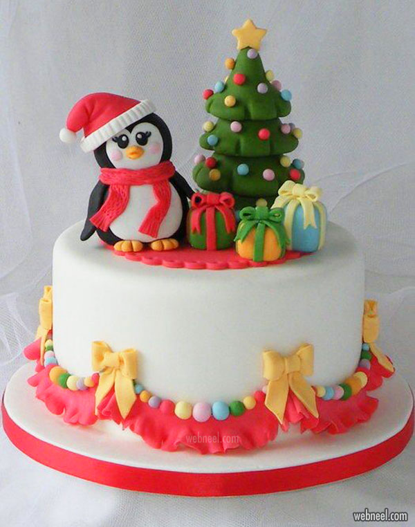 christmas cake penguins idea