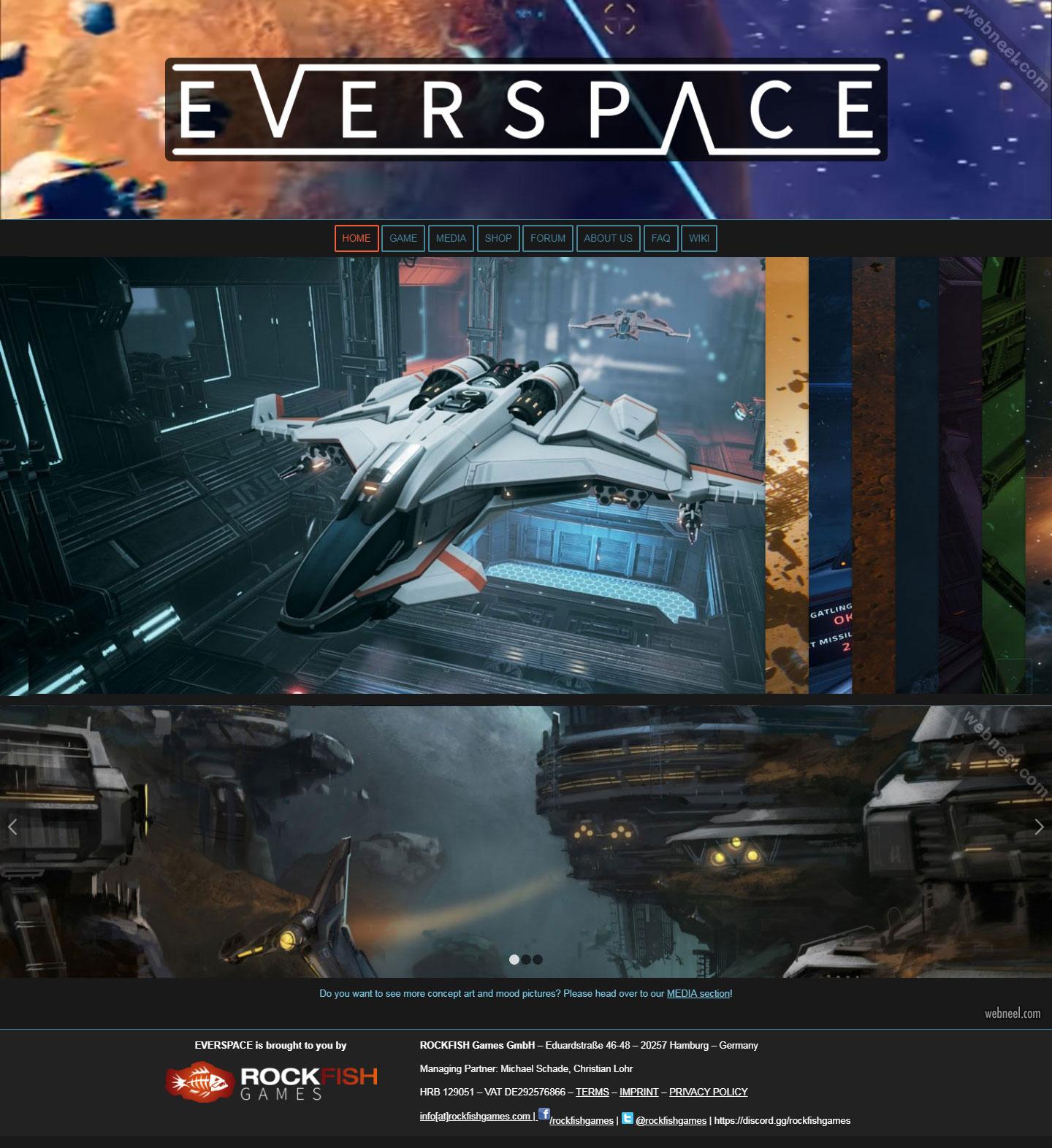 web design idea game everspace