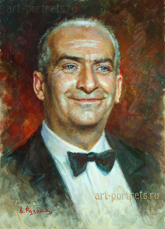 oil painting portrait louis de funes