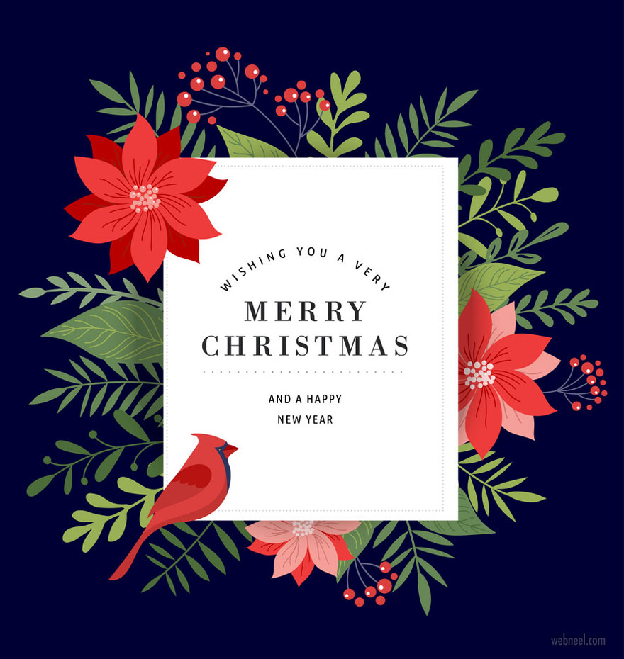 business christmas cards greeting vector