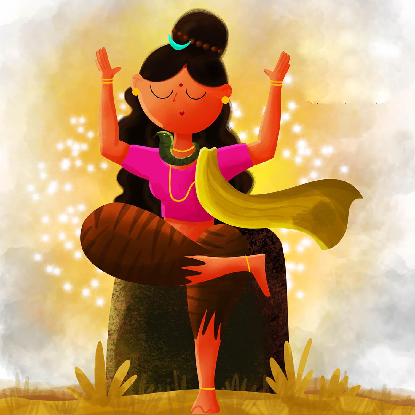 digital art indian goddess by sumouli dutta