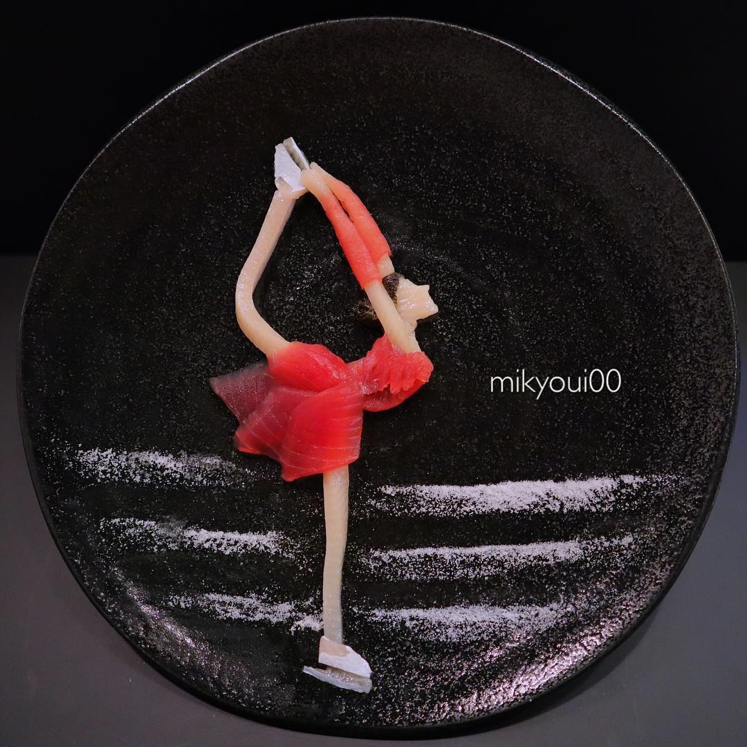 food art idea ballerina by mikyou