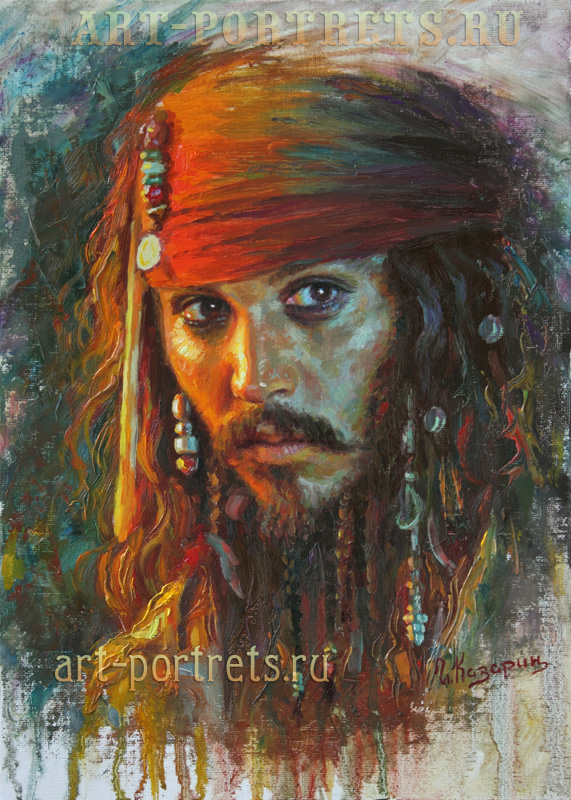oil painting portrait johnny depp