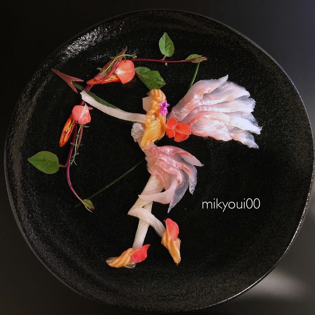 food art idea bow by mikyou