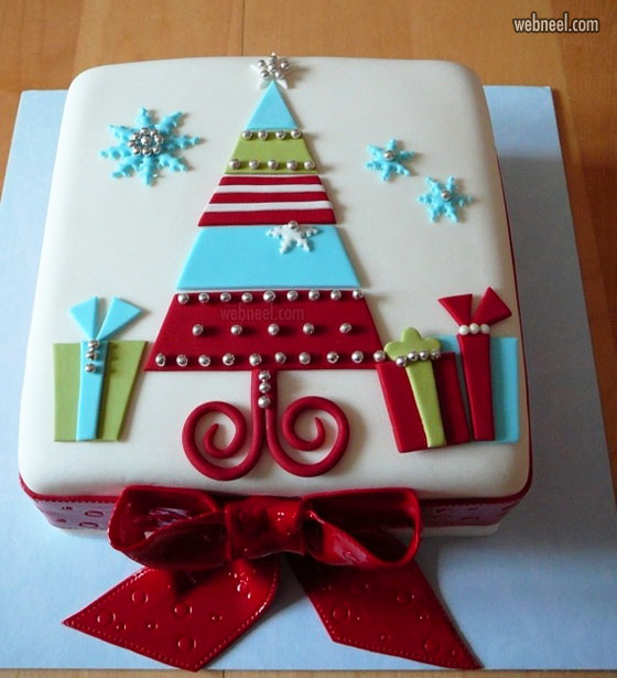 christmas cake simple decoration ideas