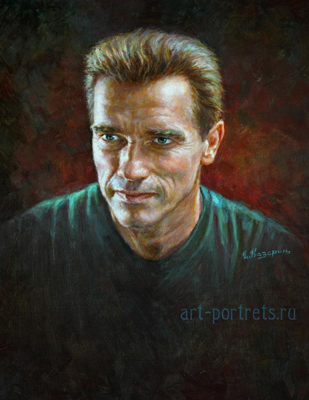 oil painting portrait arnold schwarzenegger