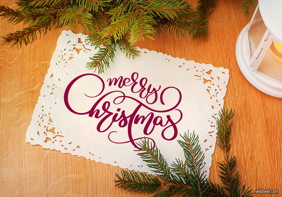 christmas typography design