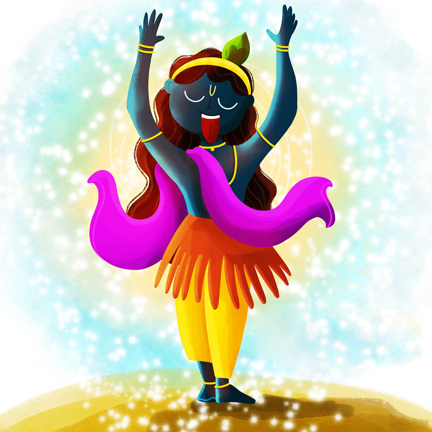 digital art indian goddess