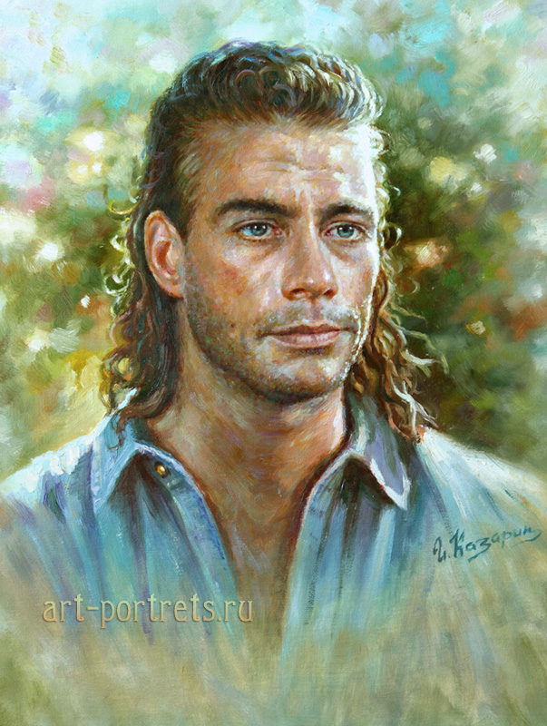 oil painting portrait jean claude van dam