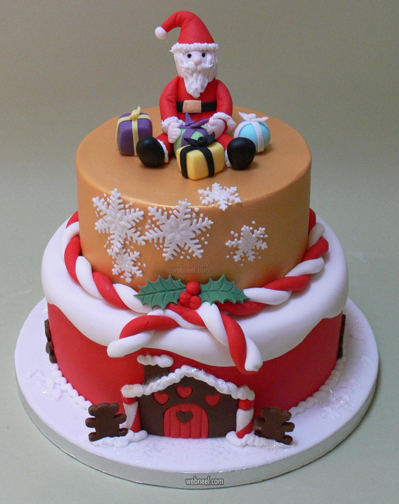 christmas cake santa decoration ideas