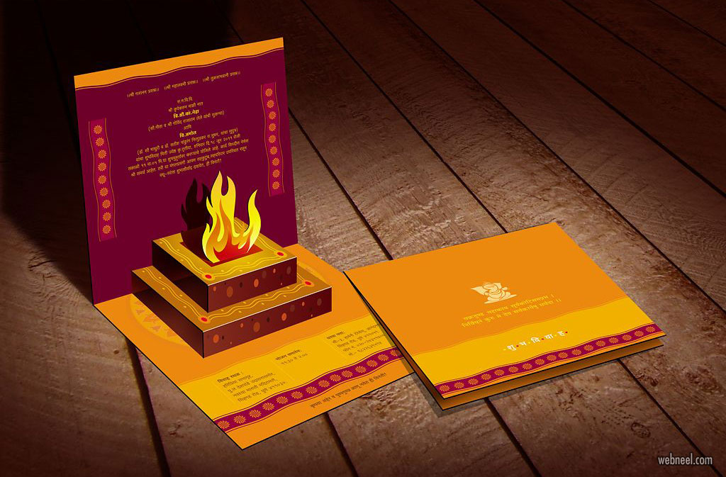 wedding card design idea indian tradition