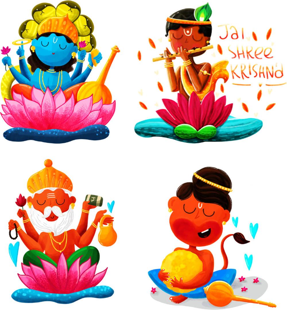 digital art indian god by sumouli dutta