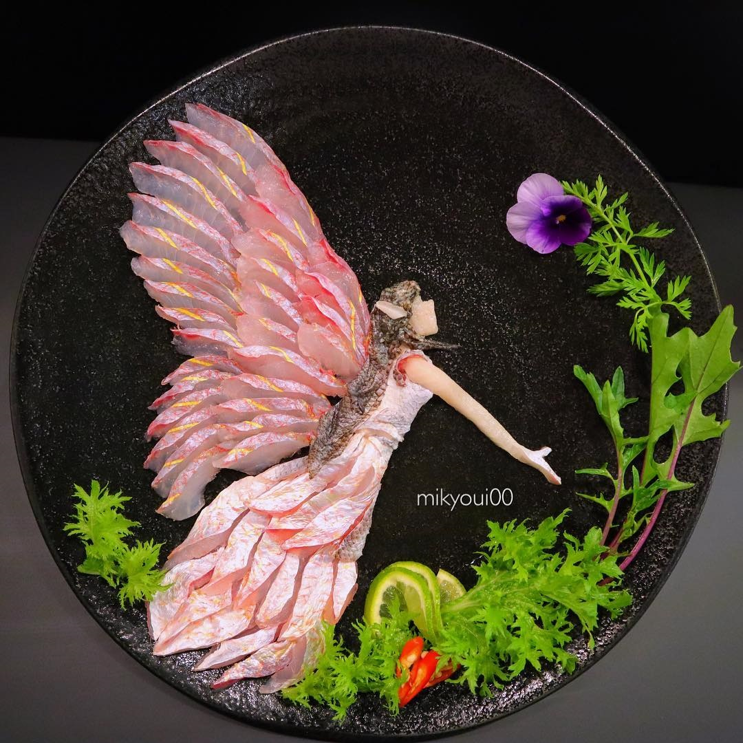 food art idea fairy by mikyou
