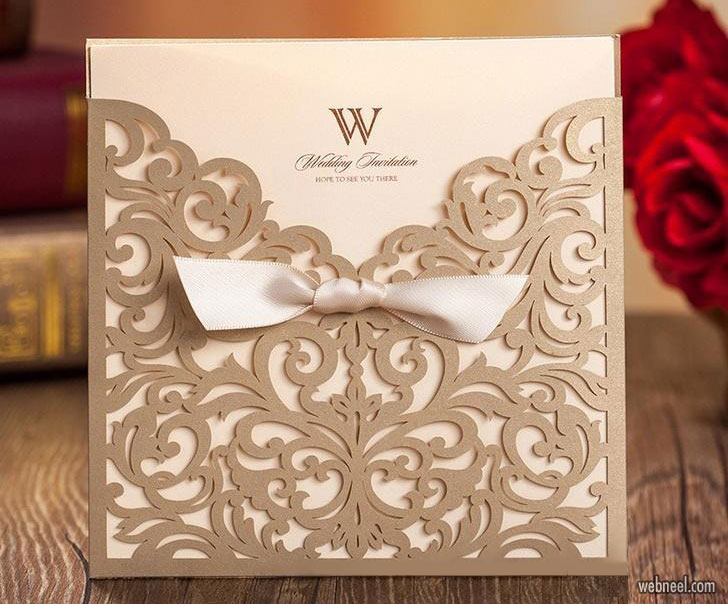wedding card design idea modern creative