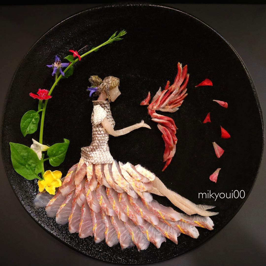 food art idea flower by mikyou