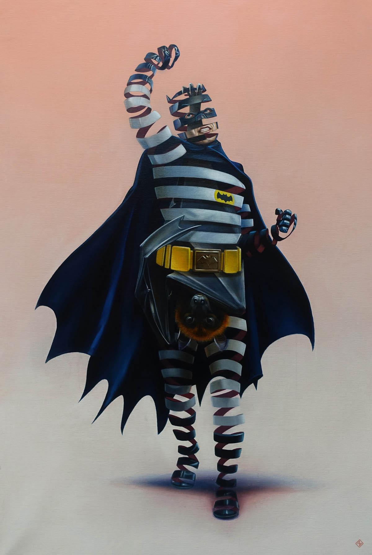 creative surreal paintings ideas batman by stefan thelen