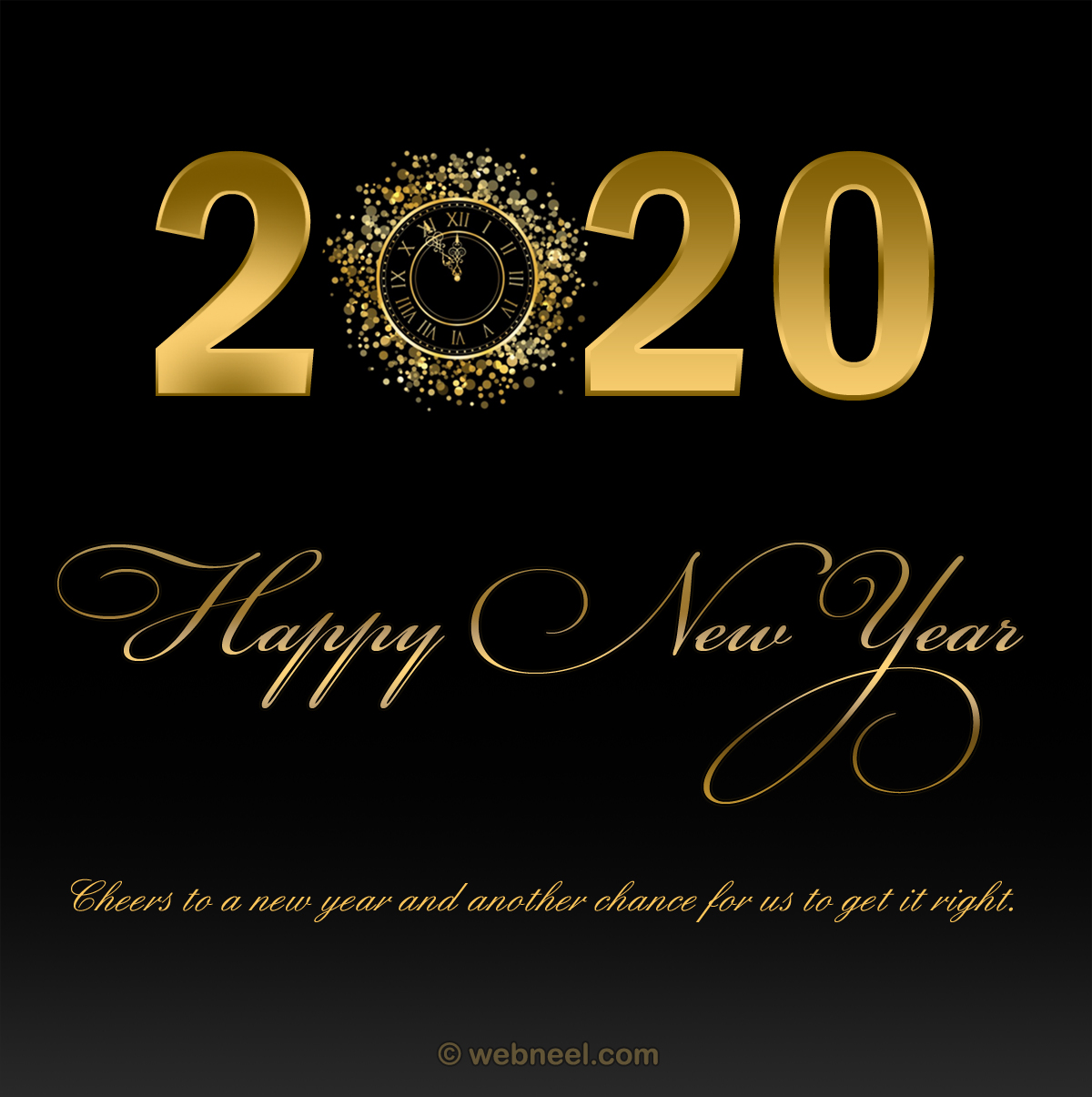 new year greeting cards 2020