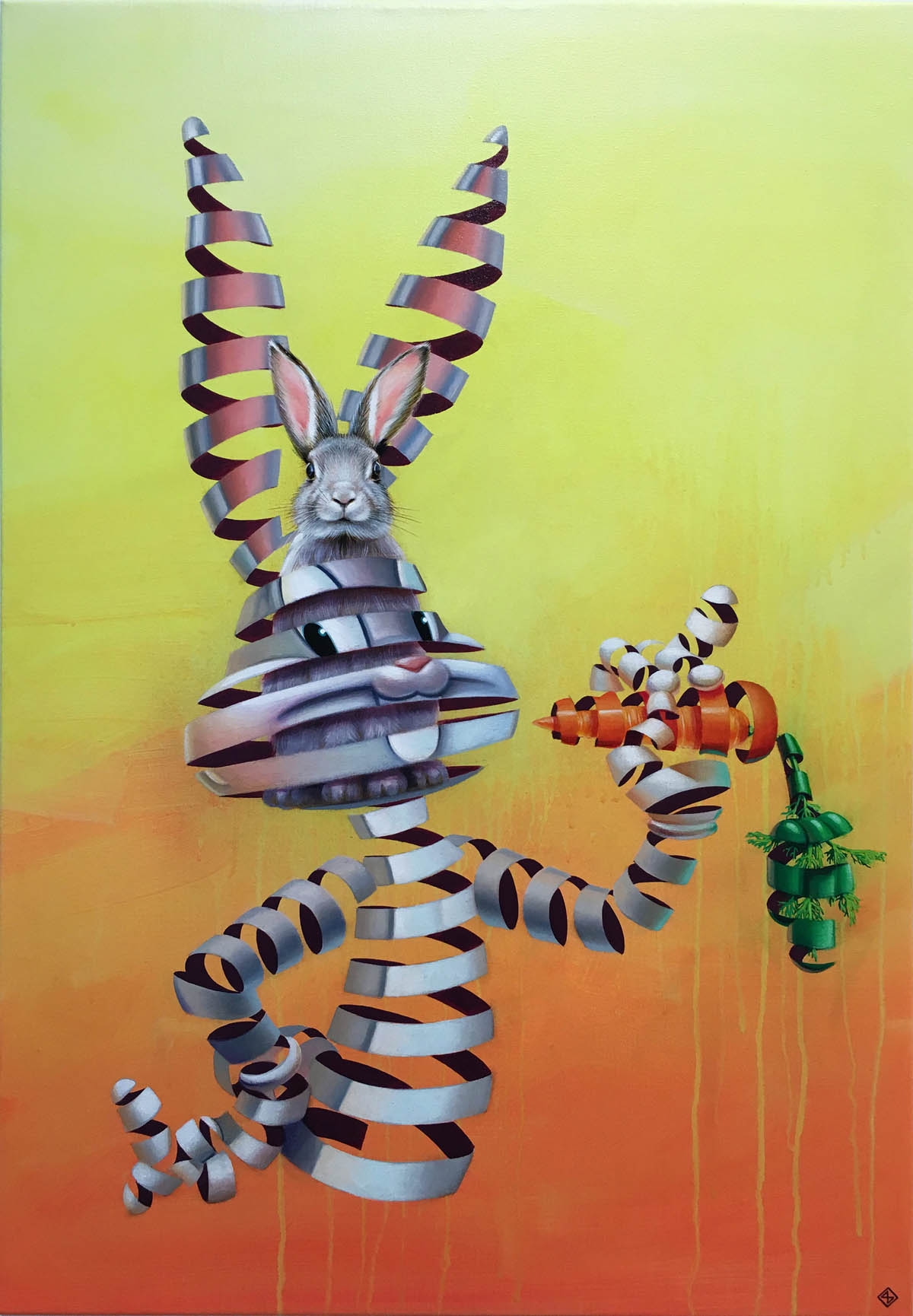 creative surreal paintings ideas bugs bunny by stefan thelen