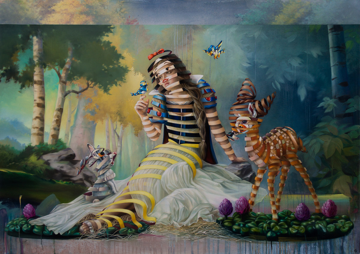 creative surreal paintings ideas cinderellla by stefan thelen
