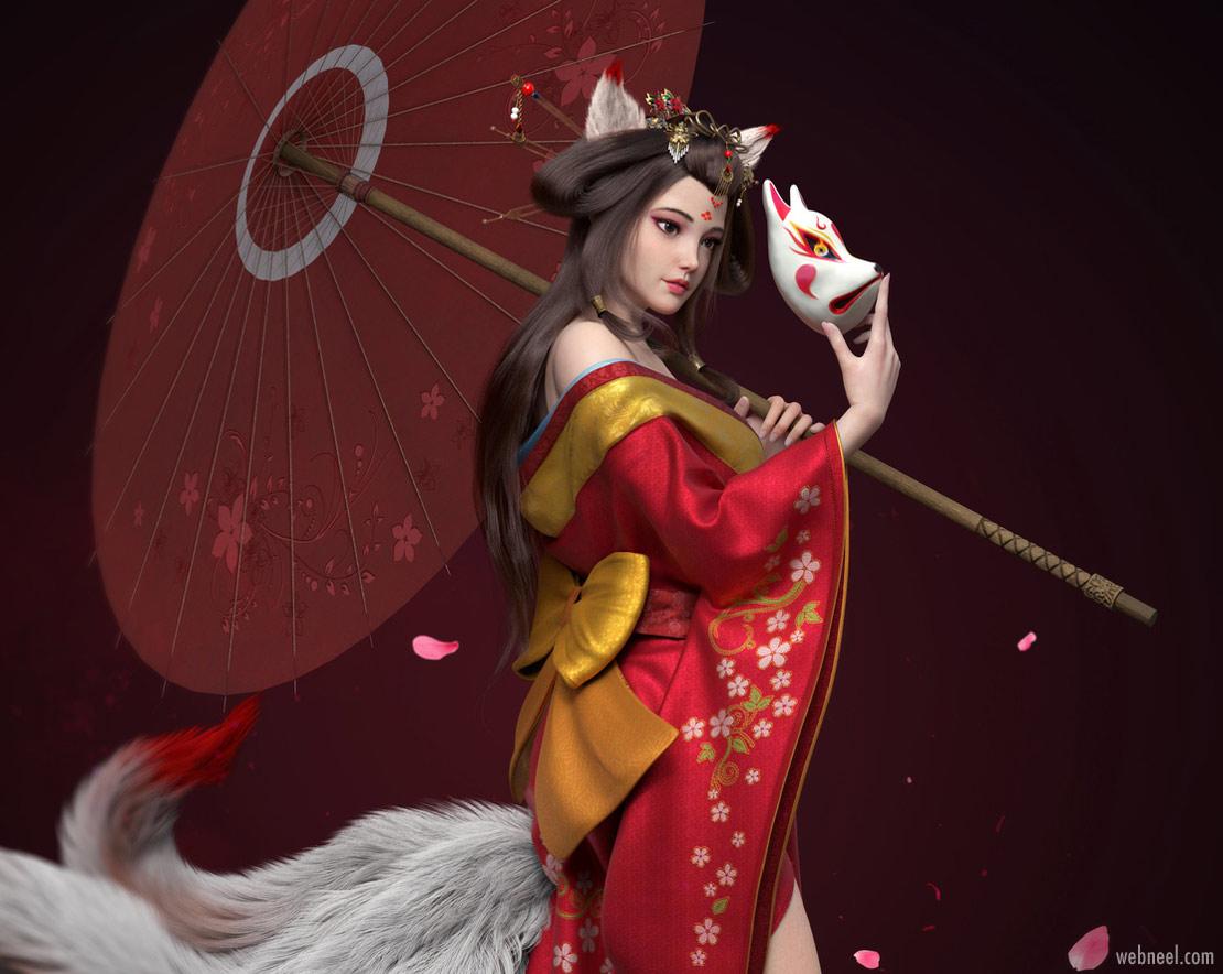 3d model chinese girl