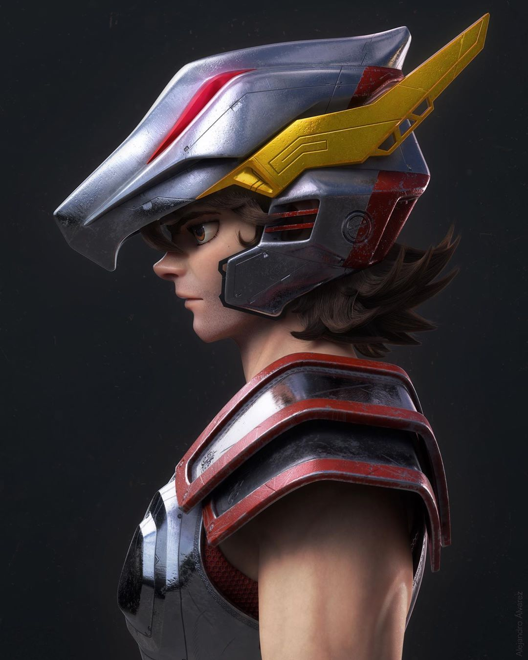 3d model designs warrior