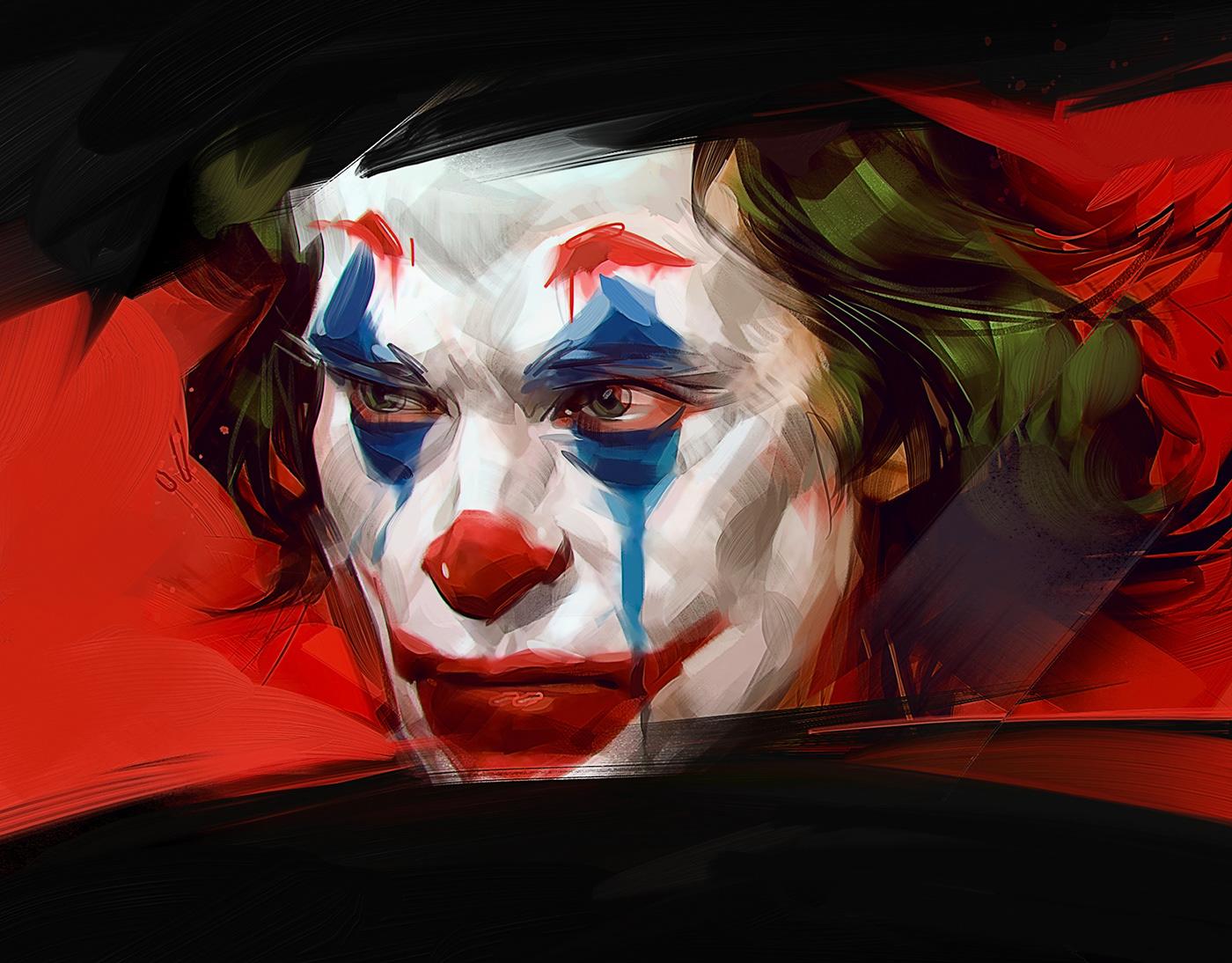 digital portrait paintings joker by viktor miller gausa by viktor miller gausa