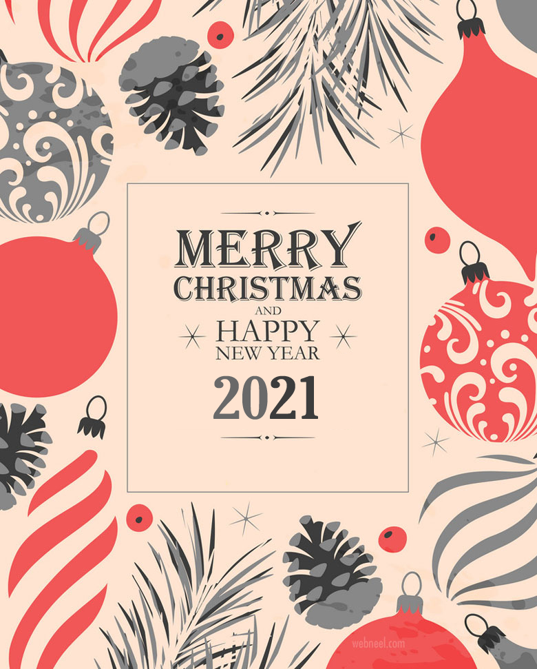 business christmas cards greeting vector 2021