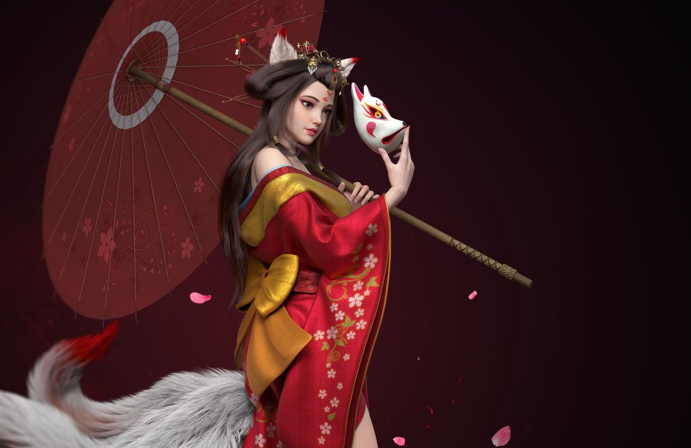 3d model chinese girl by ycfcg