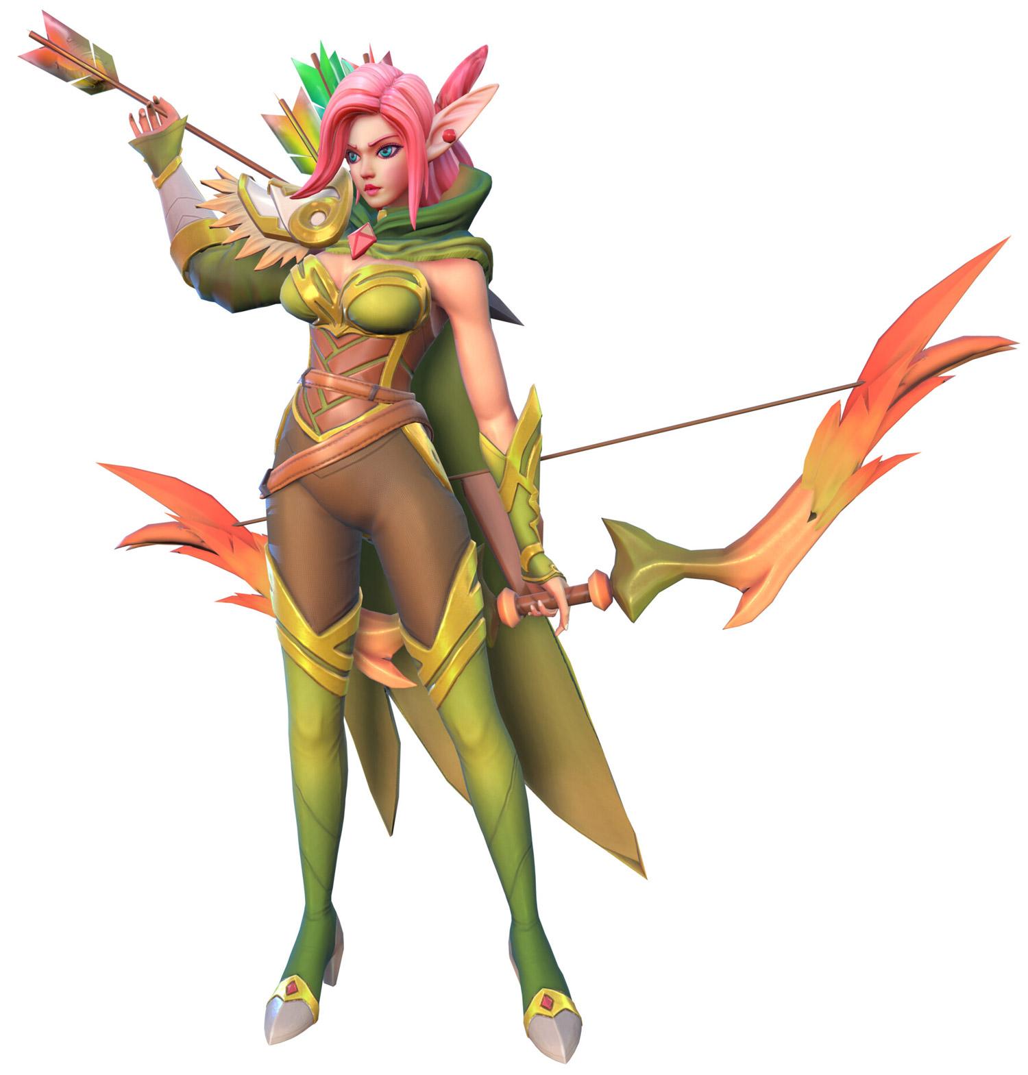 3d model fantasy girl game ranger hiker by minimi concept