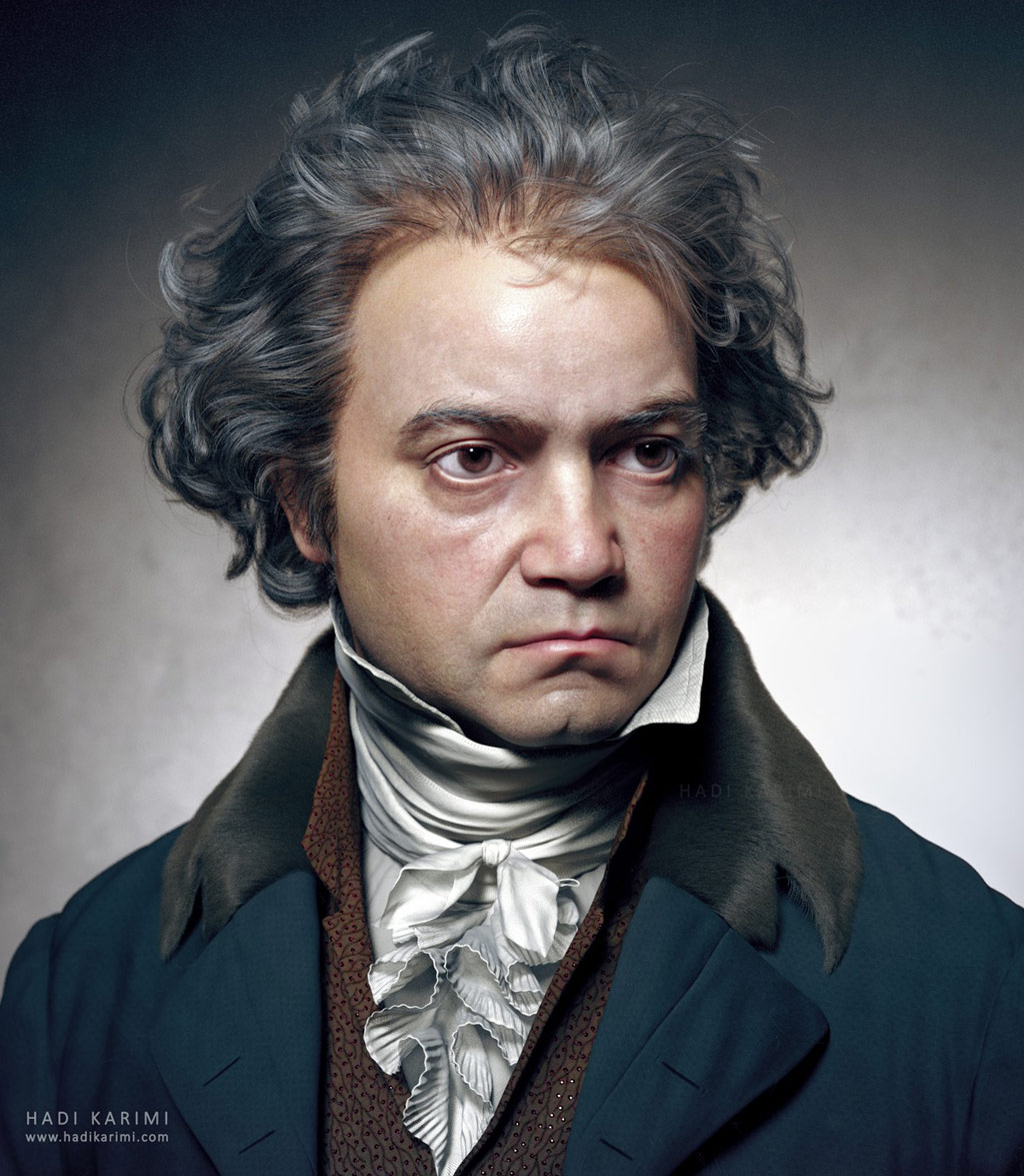 3d model ludwig van beethoven by hadi karimi