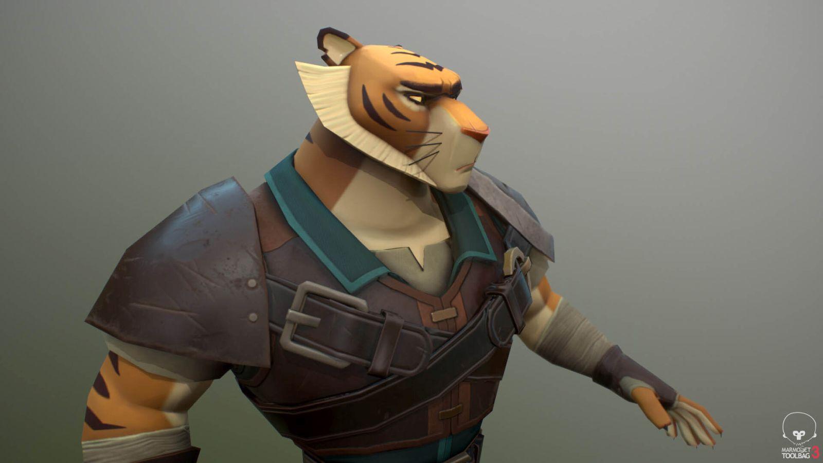 3d model tiger warrior by thiagobatista