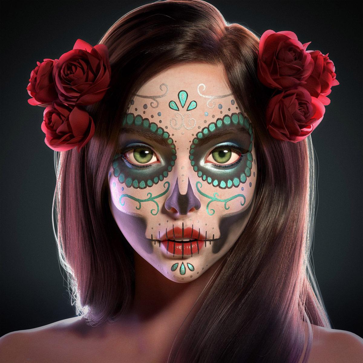 3d model woman catrina by ernesto ruiz velasco