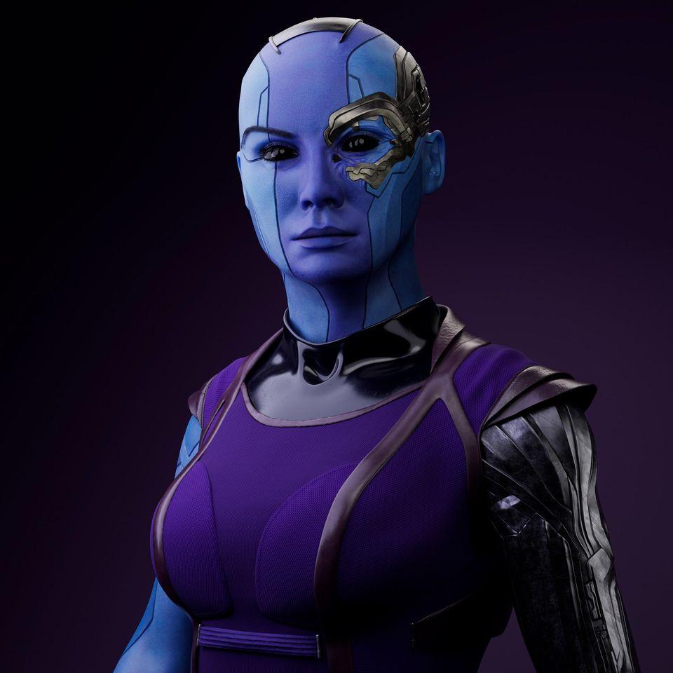 3d model woman nebula by kyloe18