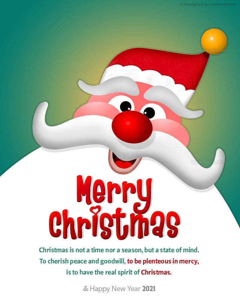 christmas greetings card design 2021
