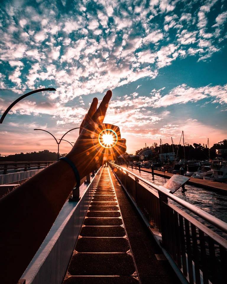 creative photography idea sun