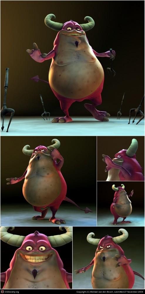 3d cartoon character by michael van den bosch