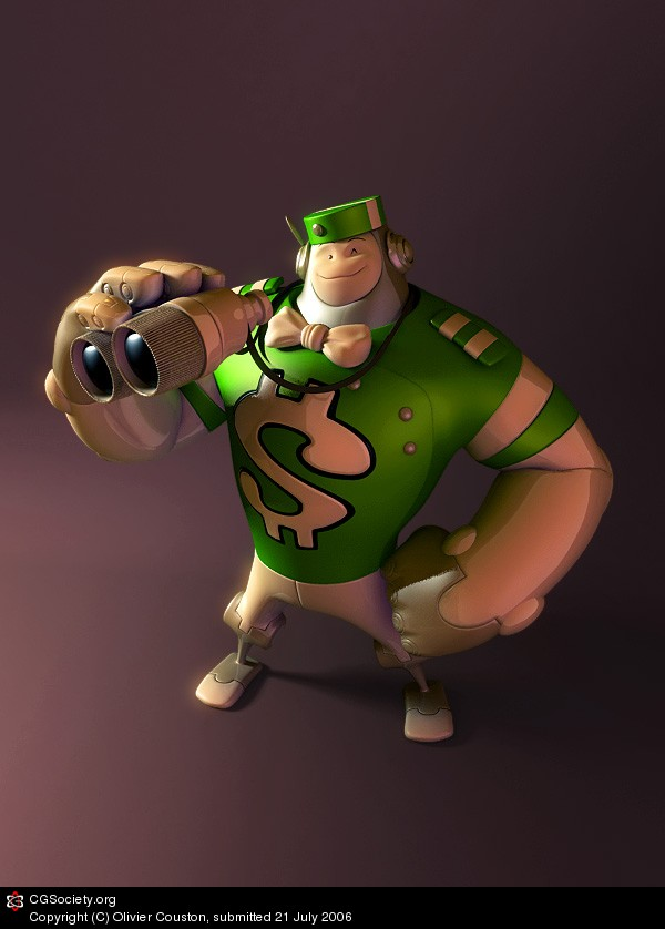 3d cartoon character by olivier couston