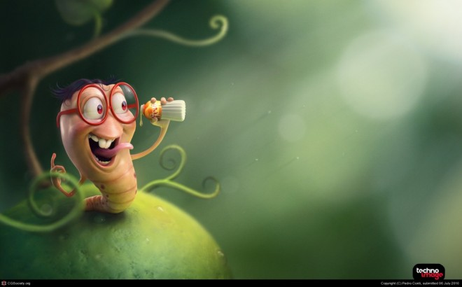 3d cartoon character by pedro conti