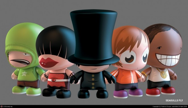 3d cartoon characters by fabricio duque