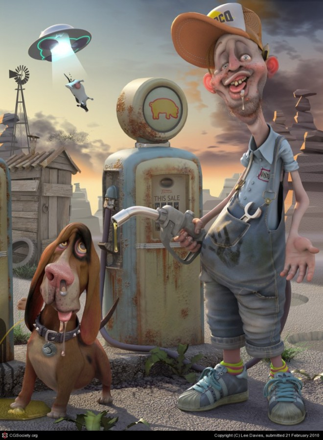 3d cartoon characters by lee davies