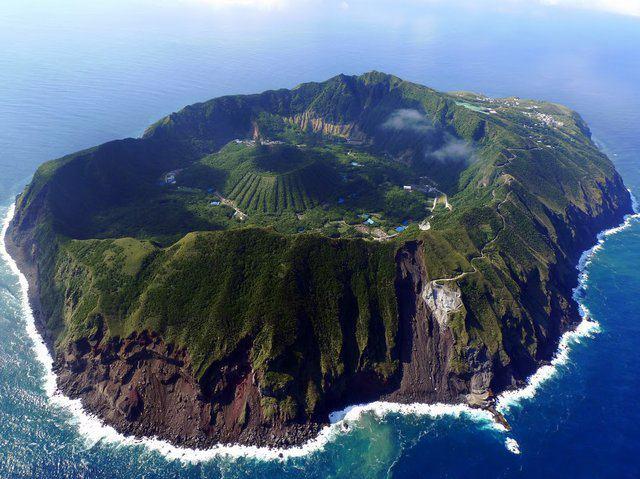 beautiful world aogashima island japan