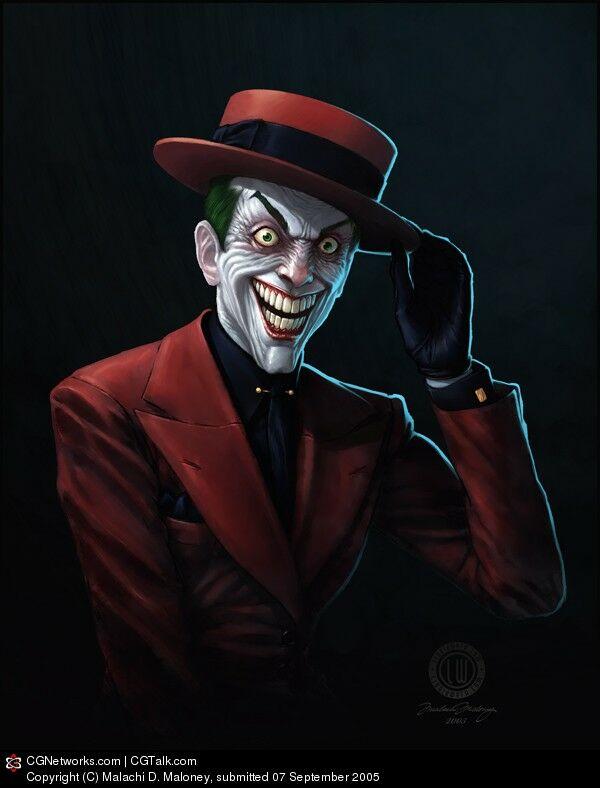 clown digital painting