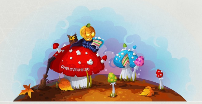 colorfull mushrooms   digital painting